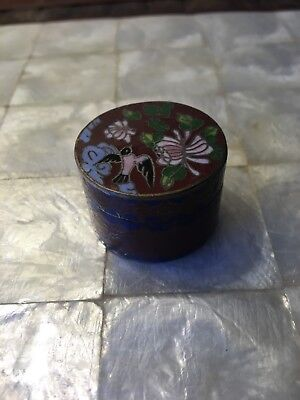 Small 20th Century Cloisonne Boxe