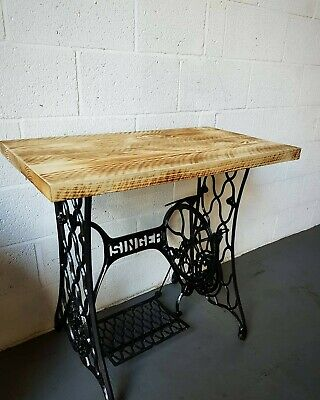 Dressing table vintage industrial style singer cast iron base