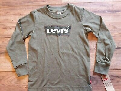 Levi's Shirt, Long Sleeves - Toddler Size 5-6. Green, with camo. New-with tags.