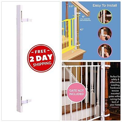 """Baby Gate Walk Adapter Kit Staircase Rail Child Pet Safety Stairway Post 42"""""""