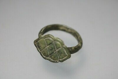 Ancient Interesting Roman Bronze Ring 1st - 4th century AD