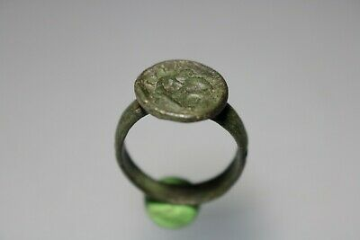 Ancient Interesting Roman Bronze Legionary Ring  1st - 4th century AD