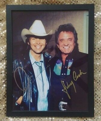 Johnny Cash & Dwight Yoakam (hand-signed - BOTH)  Backstage at the Opry  GLOSSY