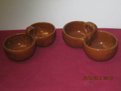 Bybee Pottery, Double Condiment Dishes (2)