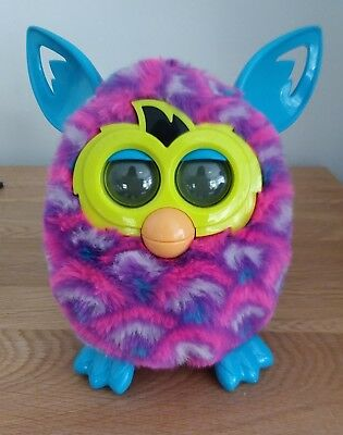 Furby Boom Blue Green Pink & Purple  Hasbro 2012 Working