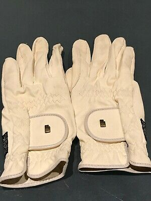 Roeckl Grip Unisex Gloves Riding Competition Glove - Cream white size 7.5