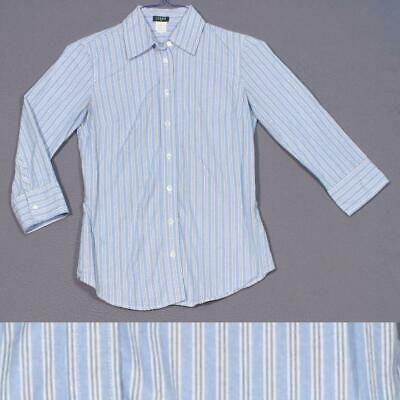 05aee74ad20b J CREW STRIPED Tie-Waist Top Blouse Blue White Size 2 G4004 Sold Out ...