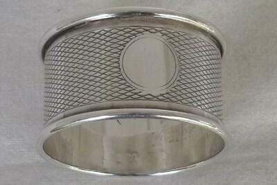 A Stunning Vintage Solid Sterling Silver Napkin Ring Birmingham 1950.