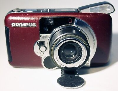 OLYMPUS LT ZOOM 105 COMPACT 35mm film CAMERA BURGANDY mju type point and shoot