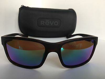 c5819afe81 New Polarized REVO RE1027 02 Crawler 59mm Matte Brown Mirrored Men s  Sunglasses