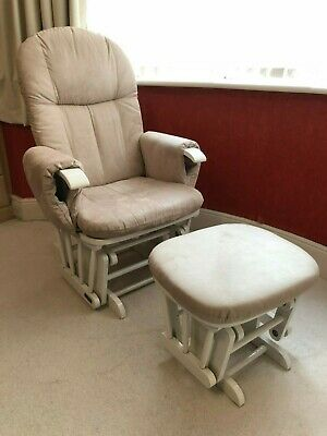 watch 89dcd a1c46 TUTTI BAMBINI GC35 Nursing Glider Maternity Rocking Chair With Stool - White