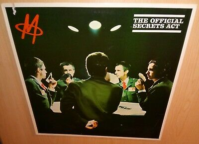 M – The Official Secrets Act, 1980 SIRE RECORDS *New Wave* VINYL LP & COVER EX