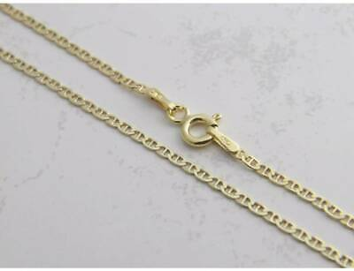 "14K Solid Yellow Gold Chain Mariner Gucci Necklace 16"" 18"" 20"" 22"" 24"" 26"" 28"""