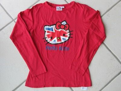 f27168f84a1b0 tee shirt rouge hello kitty london 10 ans manches longues comme neuf