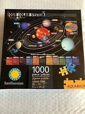Our Solar System (Smithsonian) 1000 piece jigsaw puzzle 690mm x 510mm  (nm)