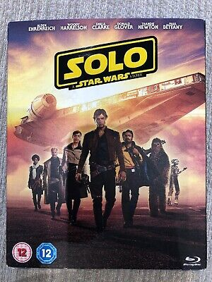 Solo Story: A Star Wars Story (Blu-ray, 2-Disc Set, 2018) New With Slipcover.