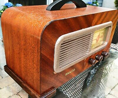 Vintage 1940 Philico Tube Radio Model 41-221, Restored and Works Perfect
