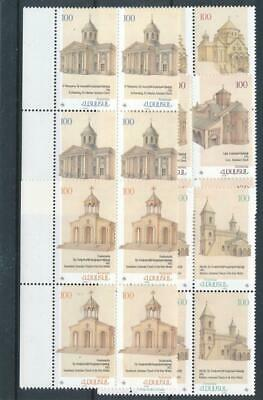 [15265] Armenia 1996 : 4x Good Set of Very Fine MNH Stamps in Blocks