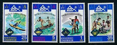 [50130] New Hebrides 1975 Scouts good set MNH Very Fine stamps