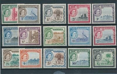 [50190] Gambia 1953 good set MNH Very Fine stamps $95