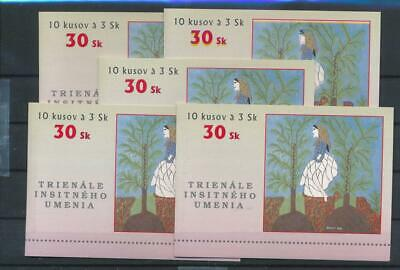[G47631] Slovakia 1997 : 5x Good Very Fine MNH Complete Booklet