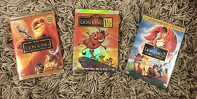 The Lion King DVD 1, 1 & 1/2, 2 Trilogy (BRAND NEW) Free Shipping