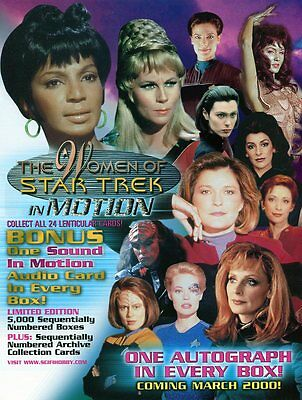 STAR TREK Trading Cards Sale Sheet - THE WOMEN OF STAR TREK IN MOTION