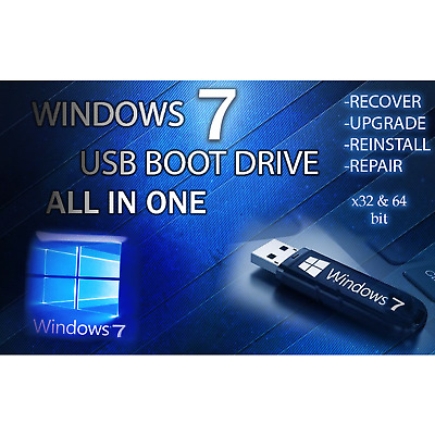 WINDOWS 7 ALL VERSIONS 64GB USB✅Ultimate Pro Home Starter Business✅32/64bit