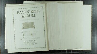 "Weeda Supplies: Lot of 90 Rapkin ""Peerless"" quadrille album pages, Classic brand"