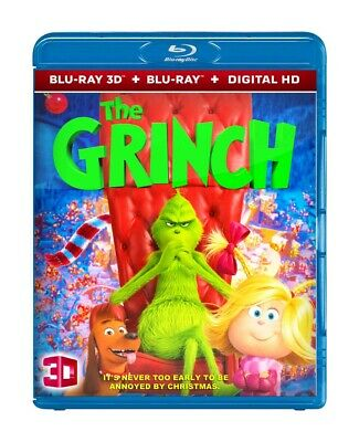 The Grinch (Blu-ray 3D & 2D, 2018) Region Free *SHIPPING NOW !!