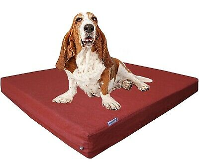 "40X35""X4"" Extra Large Memory Foam Orthopedic Washable Waterproof Pet Dog Bed Pad"