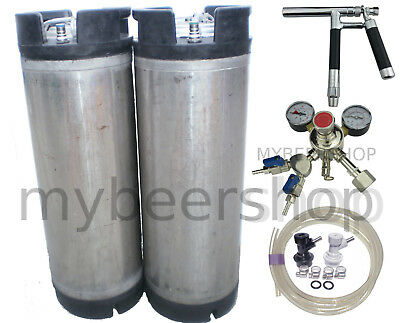 PLUTO BALL LOCK KEGGING KIT with PREMIUM REGULATOR HOME BREW BEER KEG SYSTEM SET