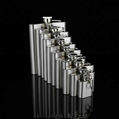 1-10 oz Stainless Steel Hip Flask Flagon Portable Wine Whisky Pot Drinkware