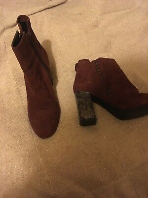 Red Faith boots size 5, worn once , immaculate condition