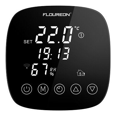 FLOUREON Smart Home WIFI Thermostat Digital Touch Screen With APP Control