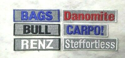 *CUSTOM* Grey Marle Personalised Name Embroidery Sew on Patch Embroidered Tag