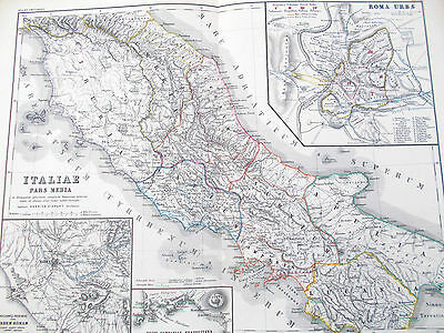 Map of Ancient Central Italy & Environs of Rome. 1898. Kiepert. EUROPE.