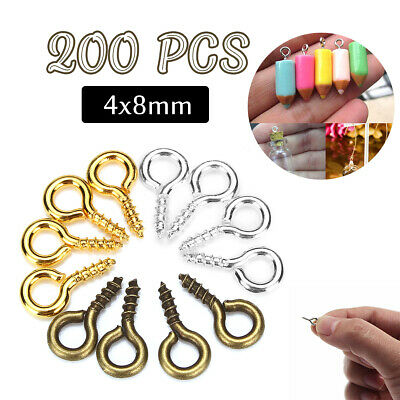 200 PCS Screw Eye Pins Resin Casting Molds DIY Jewelry Handcraft Accessories 🔥