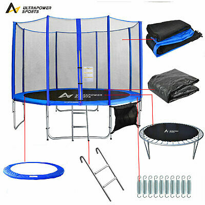 ULTRAPOWER SPORTS Trampoline With Safety Net Enclosure Ladder 8 10 12FT 3 Colors