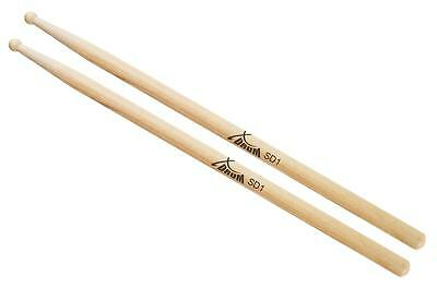 Pair Sd1 Drum Sticks Percussion High Quality Music Beaters Hickory Wooden Tip