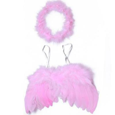 Fashion Feather Wings Baby Infant Angel Fairy Party Photography Costume Prop CF