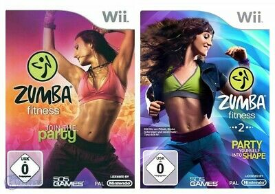 Wii Zumba Fitness 1&2 Join Party + Party yourself into Shape nur Software + OVP