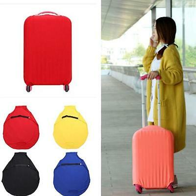 """18""""- 30"""" Elastic Luggage Cover Anti Scratch Suitcase Baggage Protector Colors CF"""