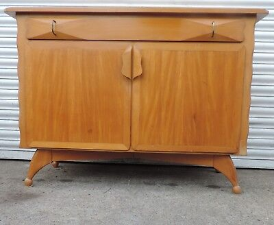 vintage retro sideboard Heals by AJ Milne 1950s 60s atomic arts and crafts chest