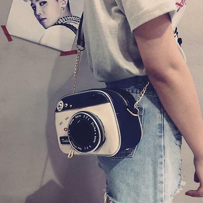 Fashion Women Leather Photo Camera Shaped Crossbody Handbags Shoulder Bag CF