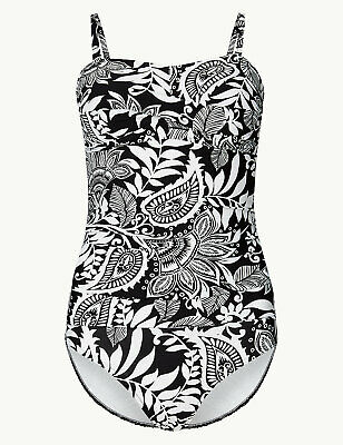 Ex M*S Secret Slimming™ Printed Bandeau Swimsuit P130.15