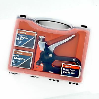 New Heavy Duty Staple Gun  8/10/12mm Stool Steel Metal Upholstery Stapler Tacker