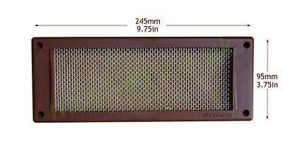 """Mousemesh Air Brick Vent Cover 9"""" x 4"""" Stop Rat, Insect, Mouse with Metal Mesh"""