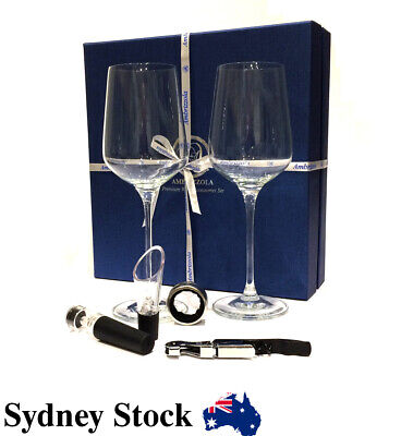 AMBRIZZOLA Premium Whiskey Stones Gift Set (incl Glasses + Stones + Tongs + bag)