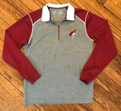 NHL Phoenix Coyotes Men s Leader 1 4-Zip Pullover Jacket Fleece Medium d1fb8b488